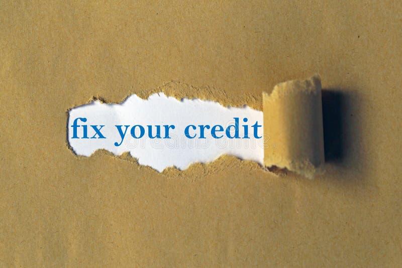 固定您的信用 免版税库存照片