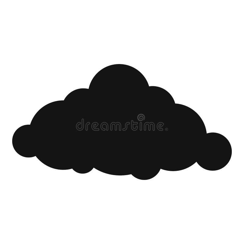 固定的云彩象,简单的样式 皇族释放例证