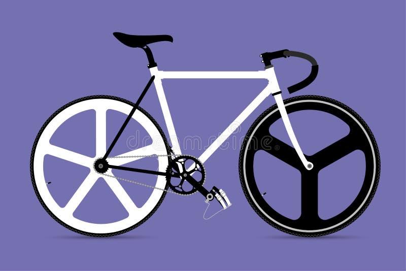 固定的齿轮自行车传染媒介Illustation 向量例证