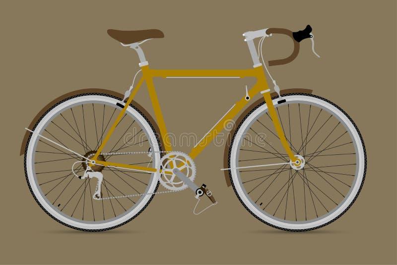 固定的齿轮自行车传染媒介IllustationE 库存例证