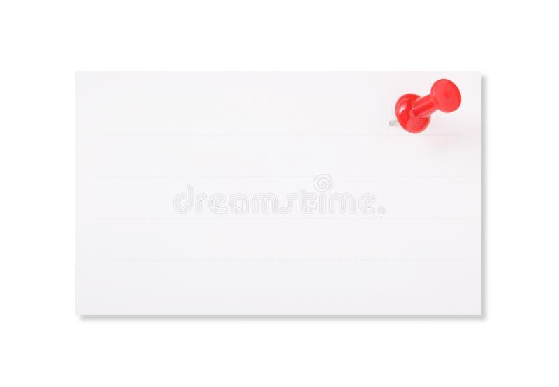 固定纸推进红色白色 库存照片