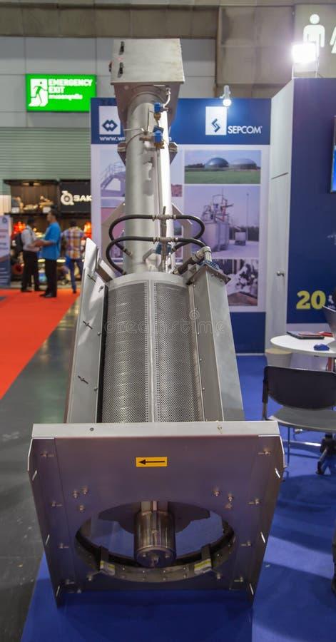 固态液体螺旋压力机分离器 免版税库存照片