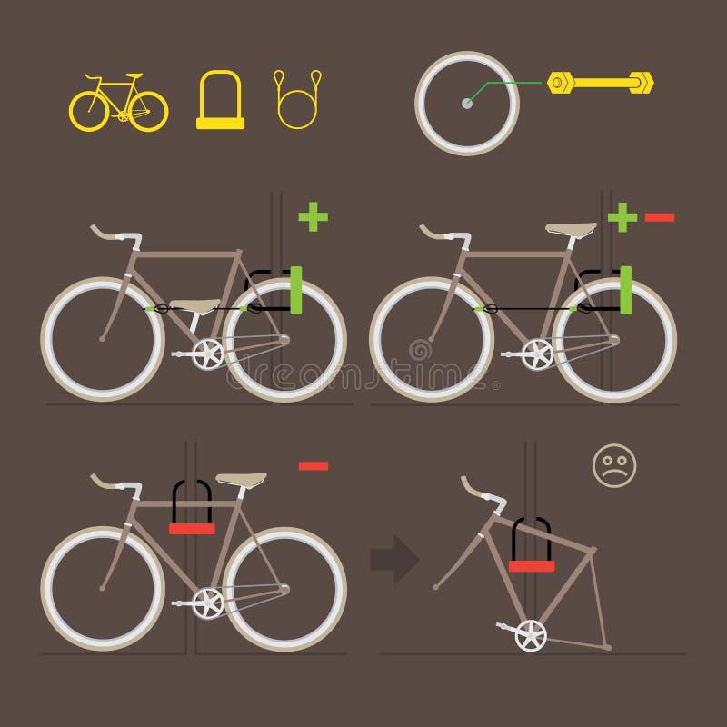 紧固您的自行车 库存例证