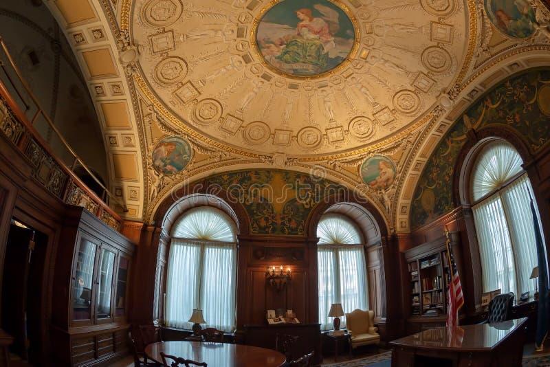 国会图书馆内部的,华盛顿特区,美国办公室 免版税库存图片