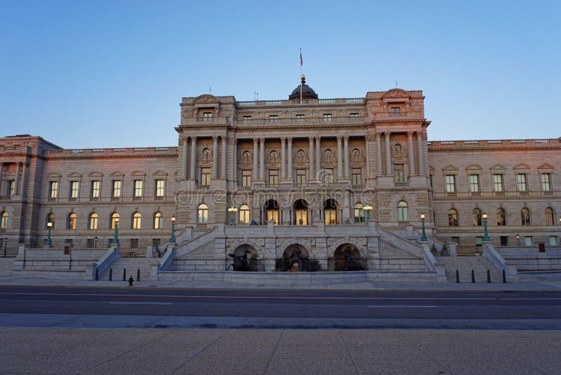 国会图书馆华盛顿特区美国 免版税库存照片