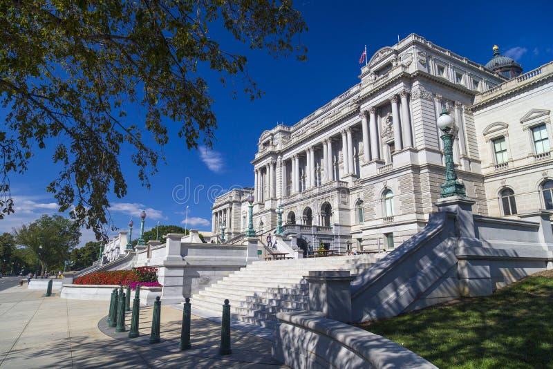 国会图书馆,在华盛顿特区的托马斯・杰斐逊大厦, 库存照片