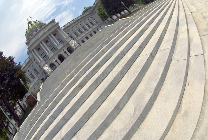 国会大厦哈里斯堡pa步骤 图库摄影