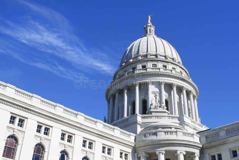 国会大厦圆顶麦迪逊威斯康辛 库存图片