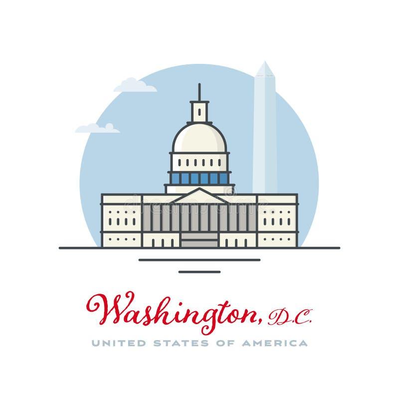 国会大厦在华盛顿,D C r 皇族释放例证