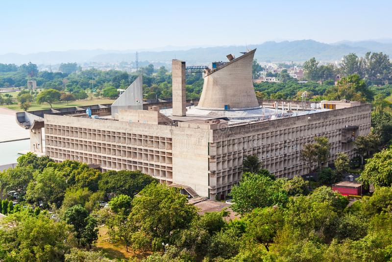 国会大厦复合体,昌迪加尔 免版税图库摄影
