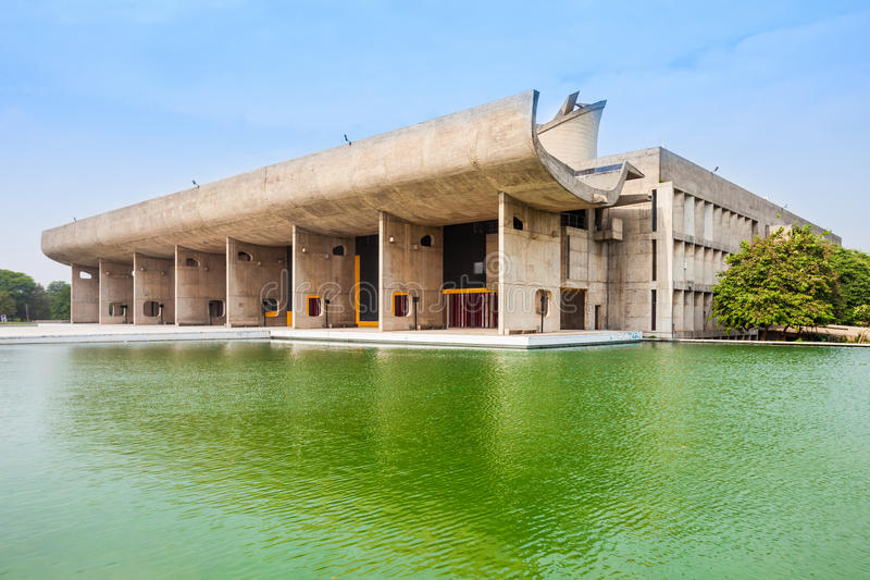 国会大厦复合体,昌迪加尔 免版税库存图片