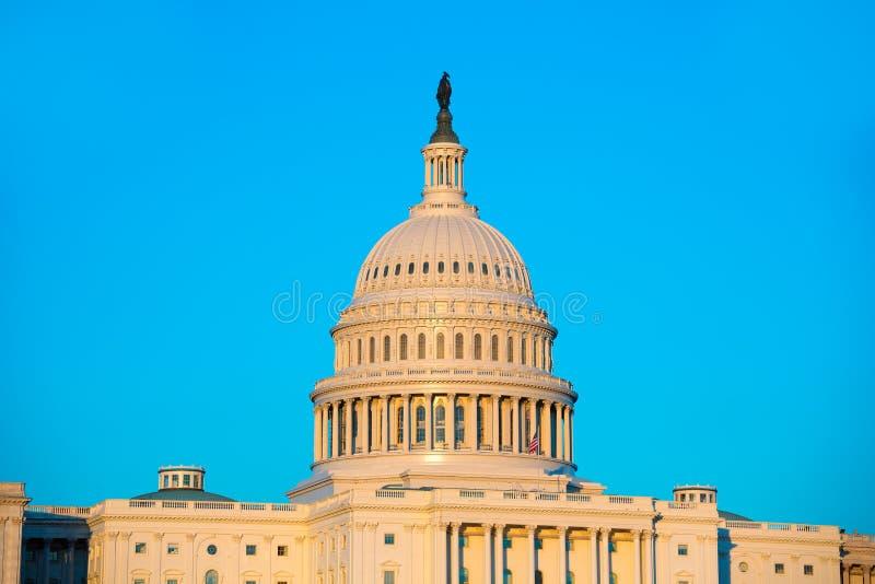 国会大厦大厦圆顶华盛顿特区美国国会 免版税库存图片