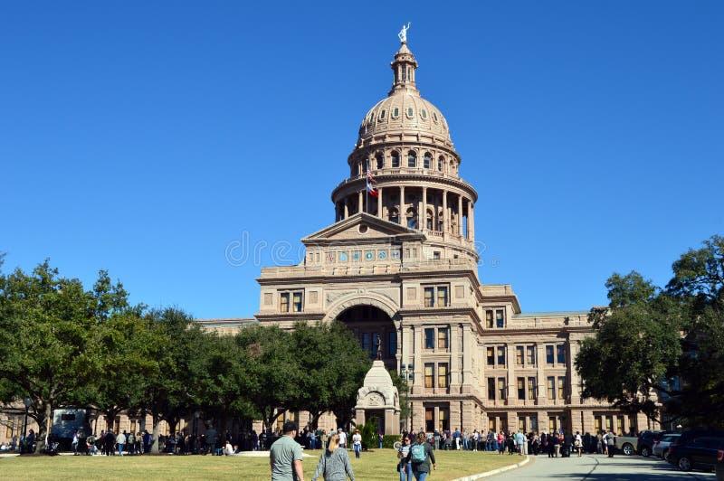 国会大厦大厦在奥斯汀,得克萨斯 免版税图库摄影