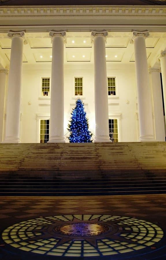 国会大厦晚上里士满弗吉尼亚 库存图片