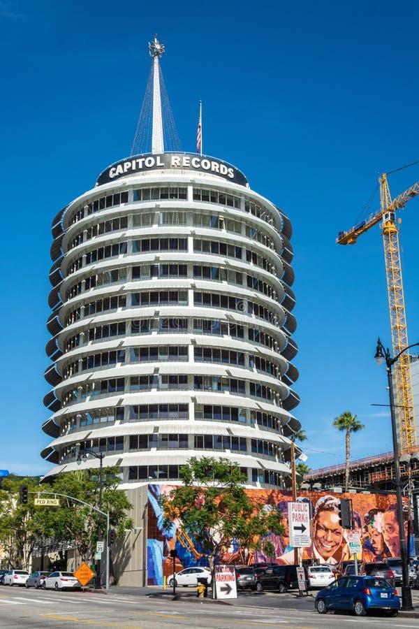 国会大厦纪录在洛杉矶,加州耸立 免版税库存照片