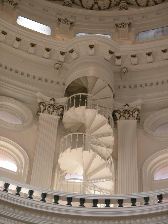 国会大厦螺旋形楼梯得克萨斯 免版税库存图片