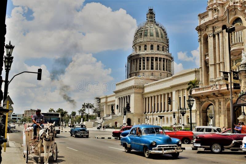 国会大厦-哈瓦那古巴 免版税库存图片