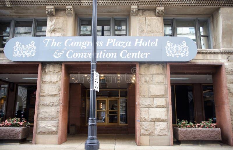 国会广场饭店和会议中心,芝加哥,伊利诺伊 库存图片