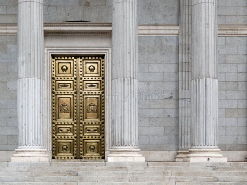 国会马德里代理西班牙语 免版税库存图片