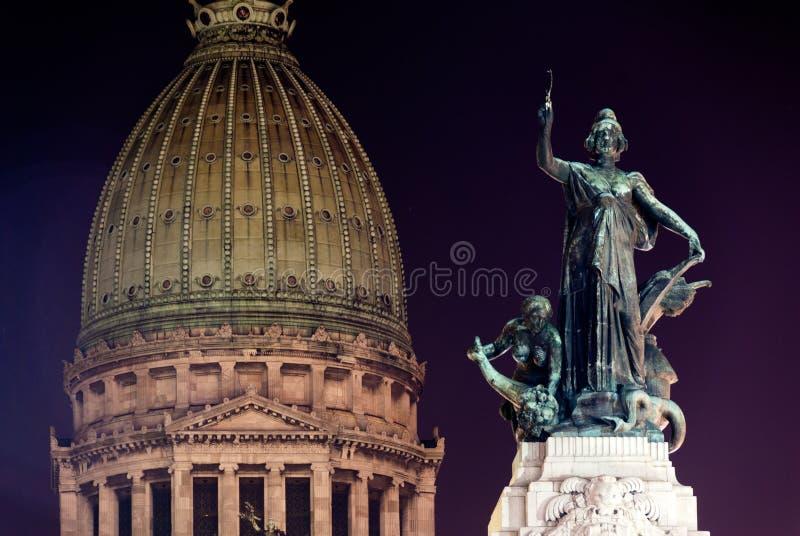 国会-布宜诺斯艾利斯,阿根廷大厦  库存图片