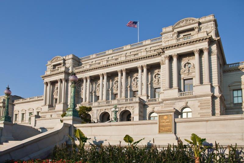 国会dc图书馆华盛顿 库存照片