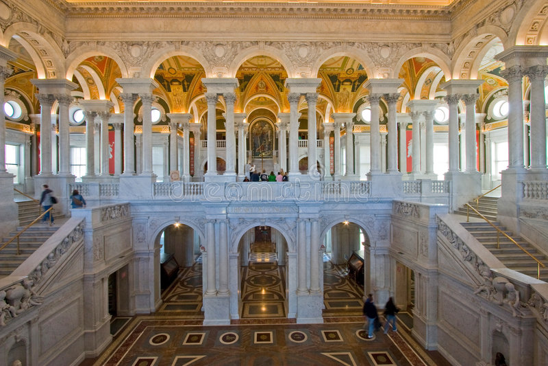 国会dc大厅图书馆华盛顿 免版税库存照片