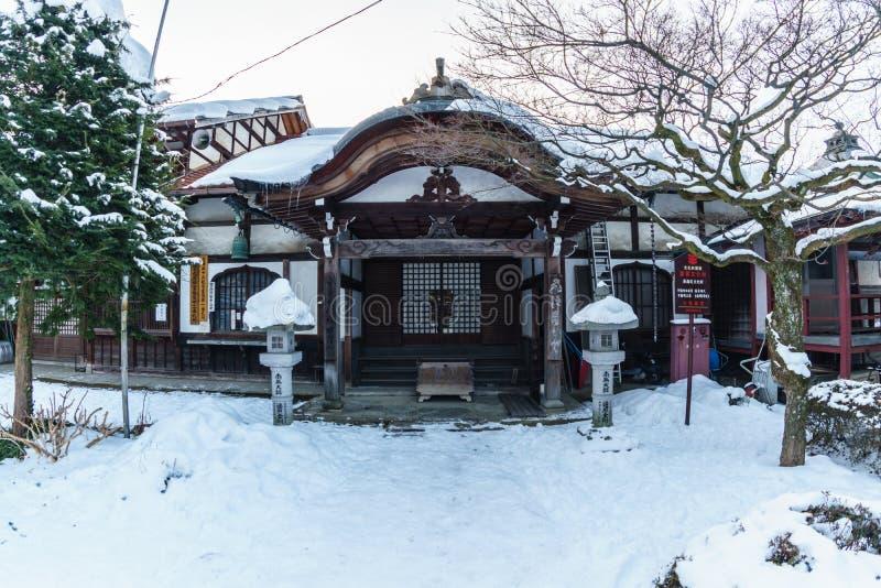 国分寺市寺庙古迹在冬天 图库摄影