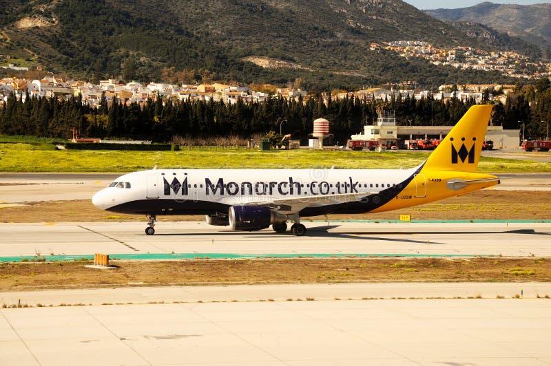 国君空中客车A320,马拉加,西班牙 免版税图库摄影