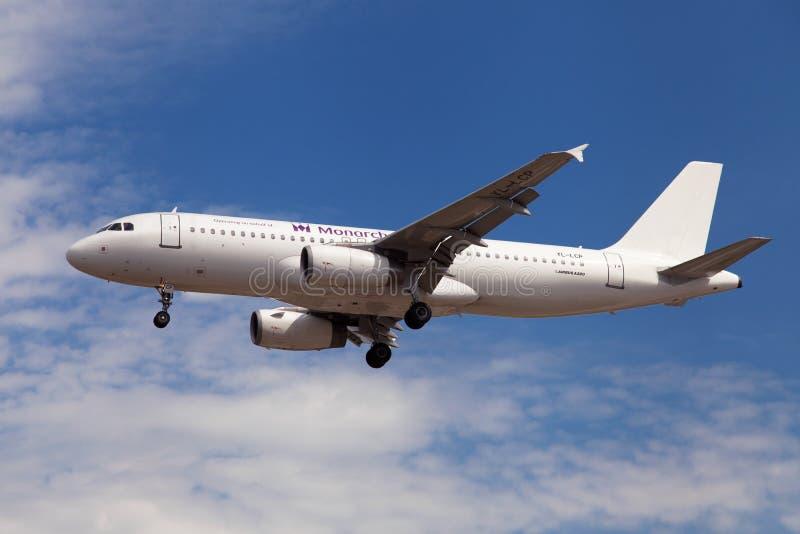 国君航空公司空中客车A320 免版税库存照片