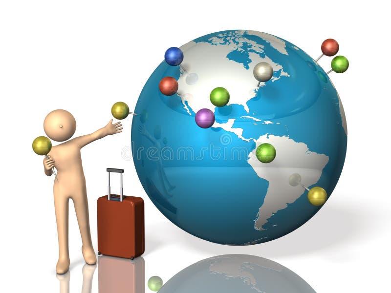 国外旅行内存  向量例证