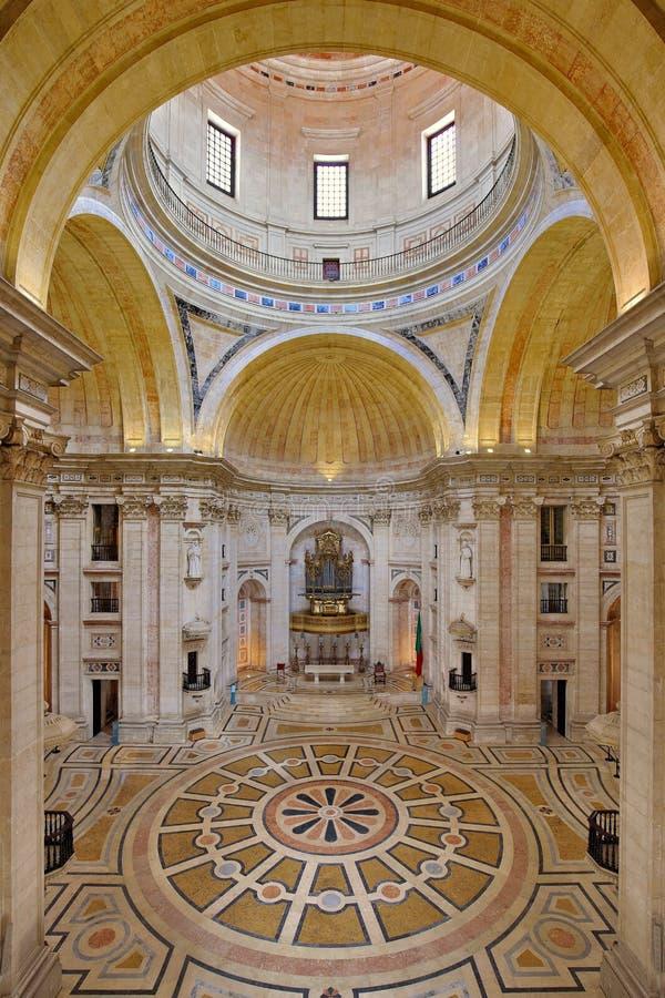 国家万神殿在里斯本,葡萄牙 免版税图库摄影