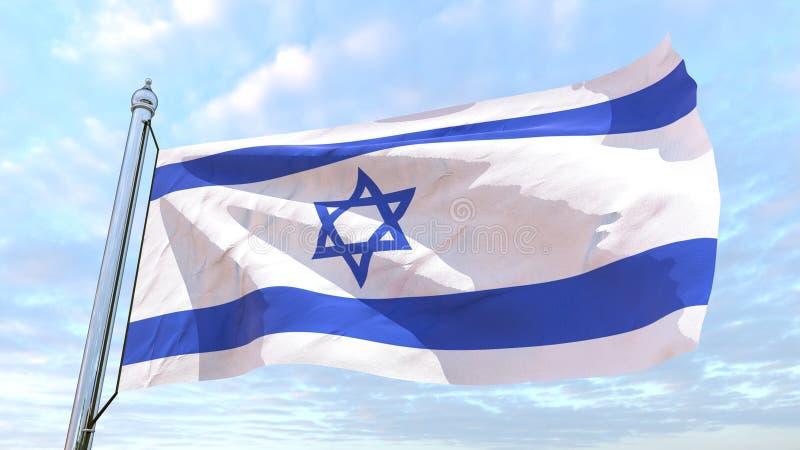 国家以色列的编织的旗子 向量例证