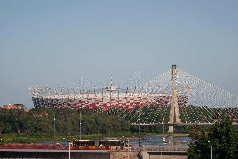 国家体育场在华沙,波兰。 免版税库存照片
