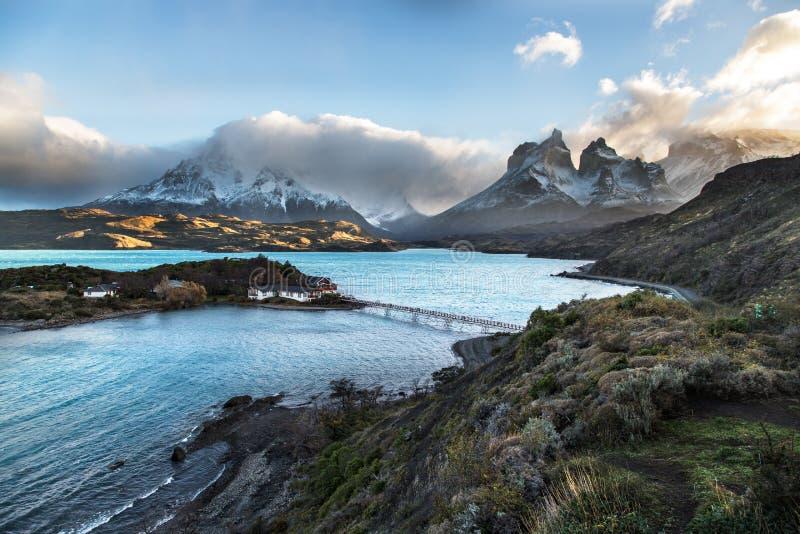 国家公园托里斯del潘恩,巴塔哥尼亚,智利 免版税库存照片