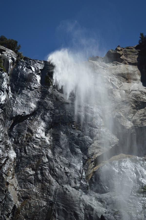 国家公园瀑布优胜美地 库存图片