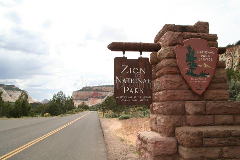 国家公园符号zion 库存照片