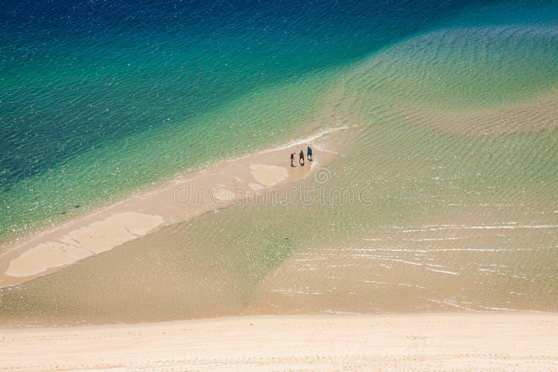 国家公园Arrabida的美好的风景视图在Setuba 库存照片