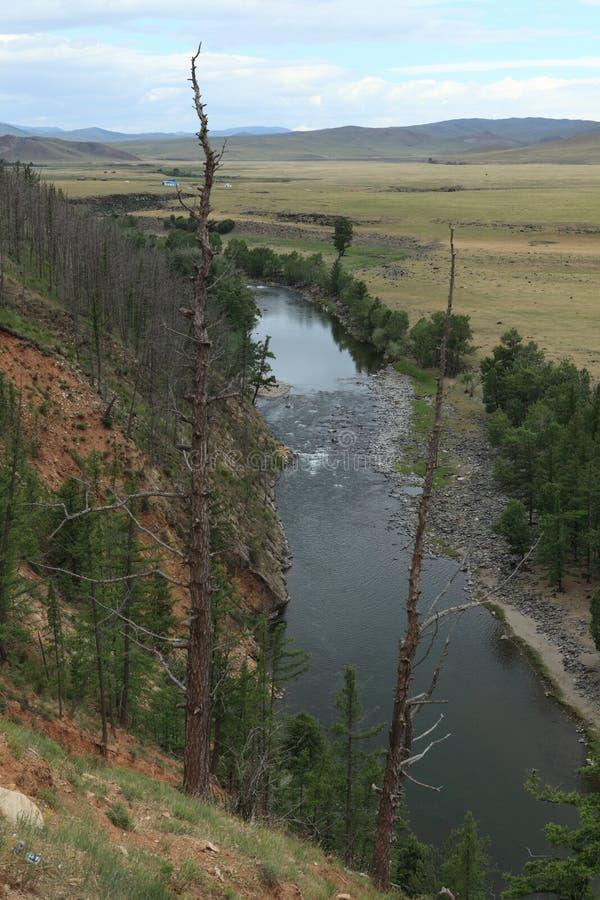 国家公园Orkhon谷Ulaan Gol河 免版税库存照片