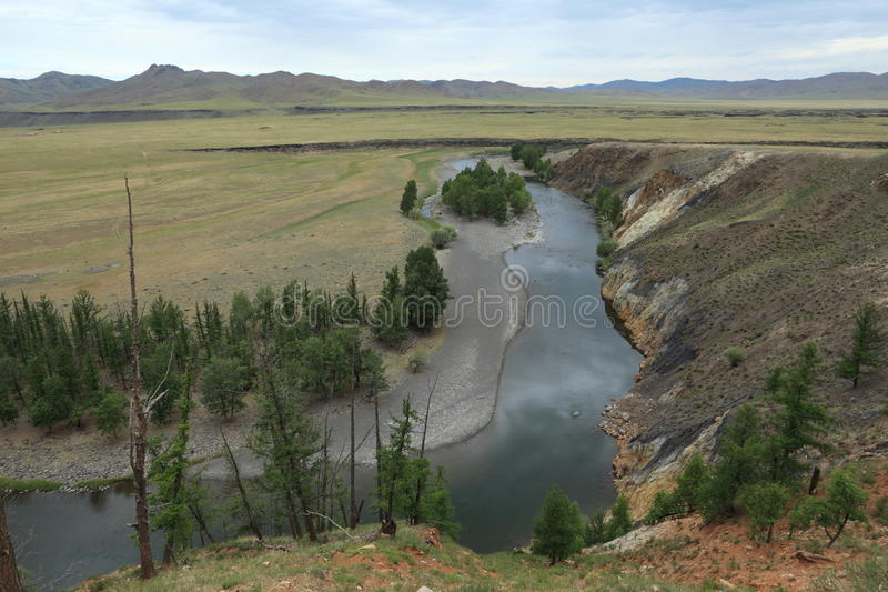 国家公园Orkhon谷Ulaan Gol河 免版税库存图片