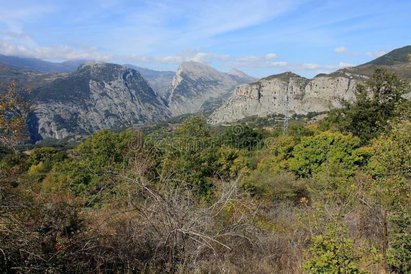 国家公园Pollino在卡拉布里亚意大利 库存图片