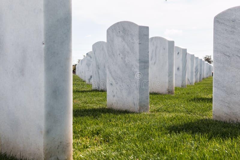 国家公墓墓石关闭视图在圣地亚哥 库存图片