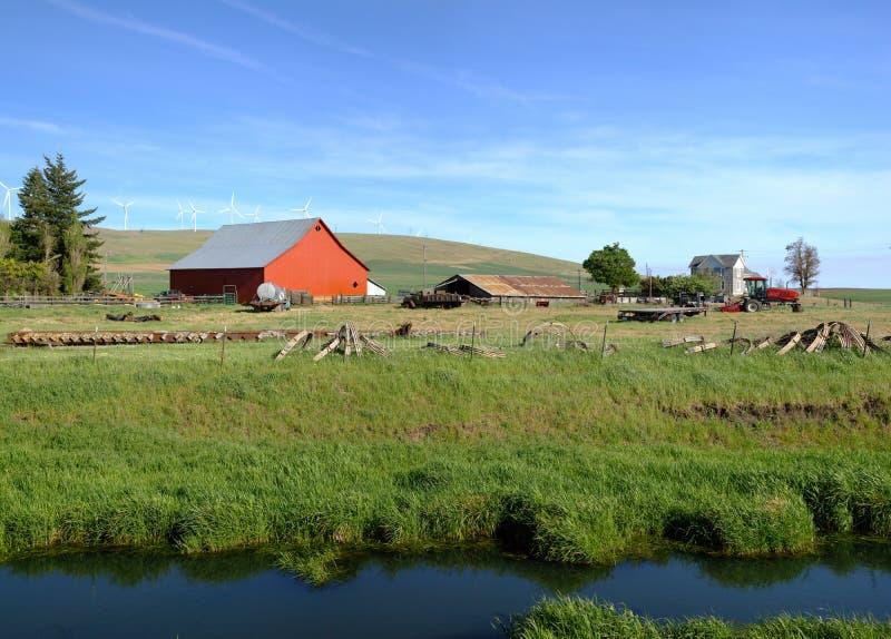 国家农厂东部华盛顿州。 免版税库存照片