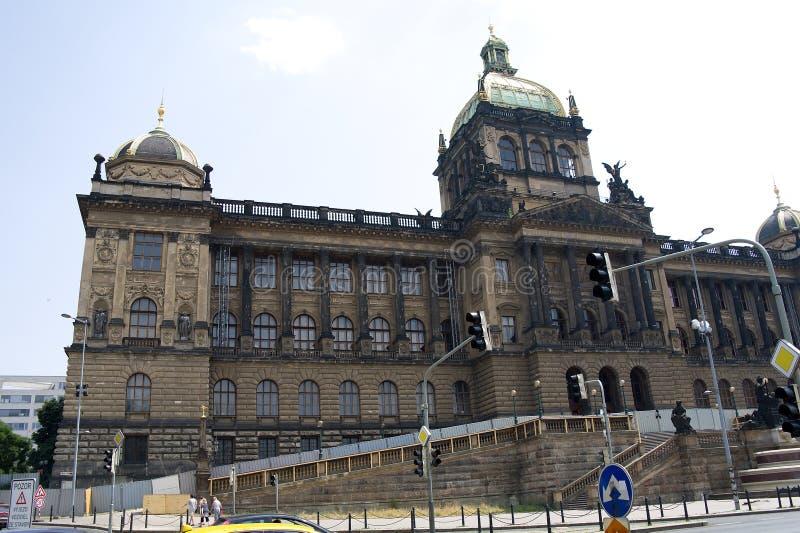 国家博物馆在布拉格 库存图片