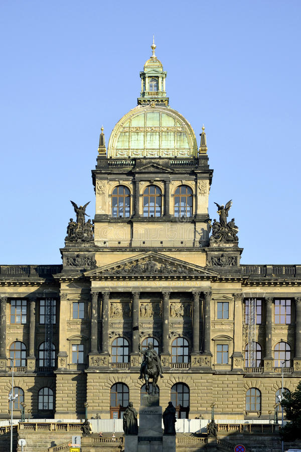 国家博物馆在布拉格-捷克 图库摄影