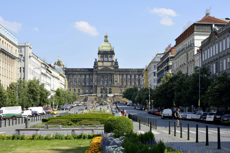 国家博物馆在布拉格-捷克 免版税库存图片