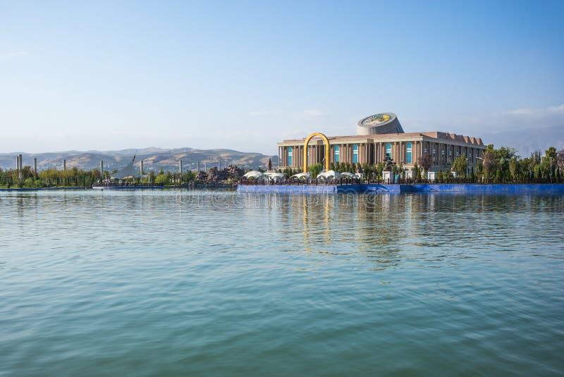 国家博物馆在杜尚别,塔吉克斯坦 免版税库存图片