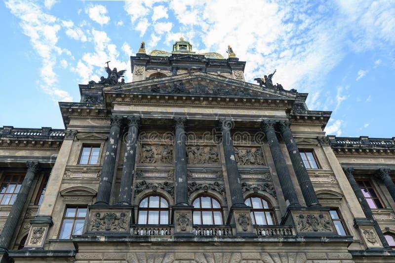 国家博物馆的大厦在布拉格 库存照片