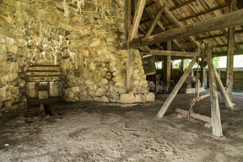 国家历史的铁工作在索格斯,马萨诸塞 库存照片