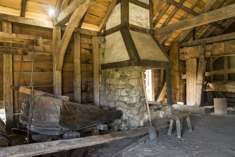 国家历史的铁工作在索格斯,马萨诸塞 免版税库存图片