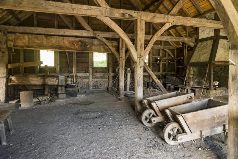国家历史的铁工作在索格斯,马萨诸塞 免版税库存照片